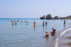 波尔图佐罗海滩扎金索斯州海岛 库存照片