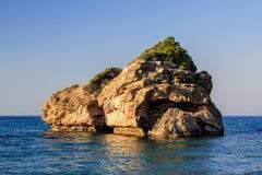 从波尔图佐罗海滩的看法 免版税库存图片