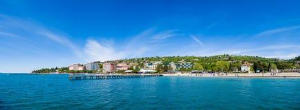 波尔图卢兹海滩和度假胜地,斯洛文尼亚 库存照片