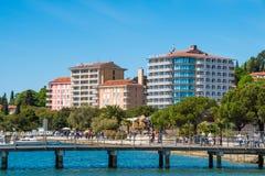 波尔图卢兹海滩和度假胜地,斯洛文尼亚 免版税库存图片