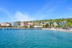 波尔图卢兹海滩和度假胜地,斯洛文尼亚 免版税图库摄影