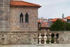 波尔图历史的都市风景  葡萄牙 免版税库存照片