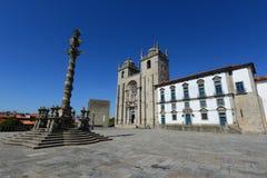 波尔图大教堂,波尔图,葡萄牙 免版税图库摄影