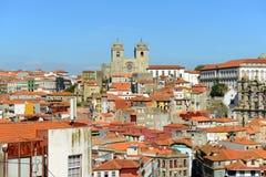 波尔图大教堂,波尔图,葡萄牙 库存照片