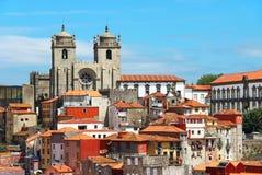 波尔图大教堂,葡萄牙 免版税库存照片