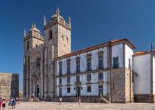 波尔图大教堂- Se做波尔图,波尔图,葡萄牙 免版税库存照片