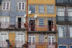 波尔图市五颜六色的房子  库存图片