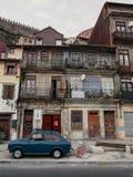 波尔图市五颜六色的房子  免版税库存照片