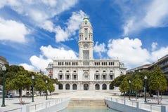 波尔图市政厅,葡萄牙 库存照片