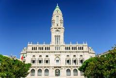 波尔图市政厅,葡萄牙 图库摄影