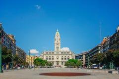 波尔图市政厅,葡萄牙 免版税库存照片