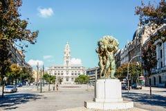 波尔图市政厅,葡萄牙 免版税库存图片