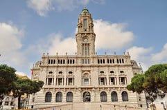 波尔图市政厅  免版税图库摄影