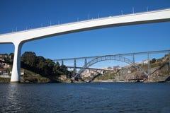 波尔图桥梁,葡萄牙 库存图片