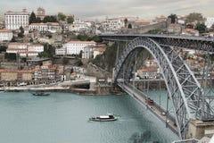 波尔图桥梁 免版税库存照片