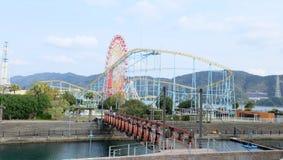 波尔图欧洲,游乐园在WAKAYAMAÂ小游艇船坞城市·æ-¥æœ¬èªž 库存照片