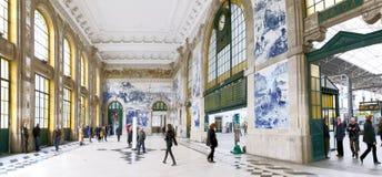 波尔图火车站, S Bento,葡萄牙 库存照片