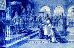 波尔图瓦片绘画 免版税库存图片