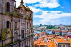 波尔图看法从Igreja dos Grilos的 库存图片