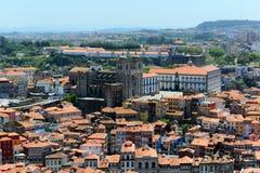 波尔图老市鸟瞰图,葡萄牙 免版税库存图片