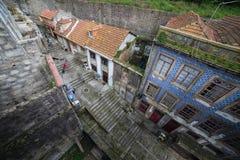 波尔图耶路撒冷旧城在葡萄牙从上面 免版税库存图片
