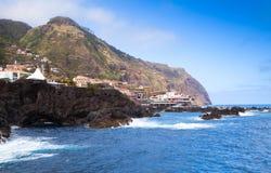 波尔图莫尼兹,马德拉岛沿海风景  免版税库存图片