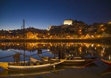 波尔图葡萄牙老镇河地区  免版税库存照片