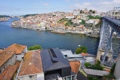 波尔图葡萄牙风景视图 库存图片