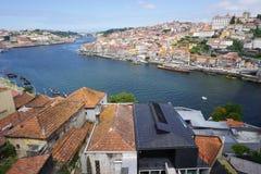 波尔图葡萄牙风景视图 库存照片