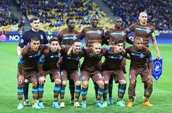 波尔图足球俱乐部小组照片的球员姿势 免版税库存图片