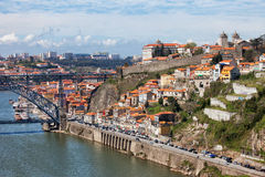 波尔图都市风景在葡萄牙 库存图片