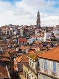 波尔图鸟瞰图老镇  葡萄牙 免版税图库摄影