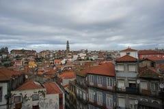 波尔图,葡萄牙屋顶  免版税库存照片