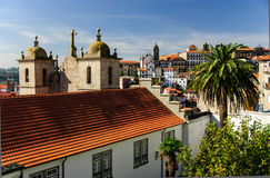 波尔图,葡萄牙老镇的看法  免版税库存照片