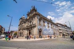 波尔图,葡萄牙- 2017年7月 看起来象一个大教会的两个葡萄牙教会在波尔图实际上被连接 对le 库存照片