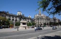 波尔图,葡萄牙- 2010年7月10日:市中心 免版税图库摄影
