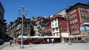 波尔图,葡萄牙- 2010年7月10日:市中心 免版税库存照片