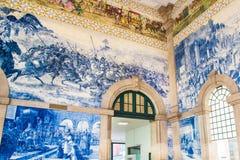 波尔图,葡萄牙- 2016年8月08日:São Bento火车站波尔图,葡萄牙 免版税图库摄影