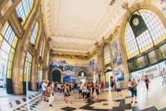 波尔图,葡萄牙- 2016年8月08日:São Bento火车站波尔图,葡萄牙 免版税库存图片