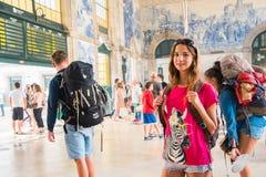 波尔图,葡萄牙- 2016年8月08日:São Bento火车站波尔图,葡萄牙 图库摄影