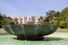 波尔图,葡萄牙- 2015年7月05日:Serralves从事园艺绿色公园 库存图片