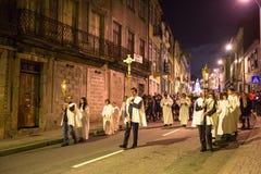 波尔图,葡萄牙-以纪念我们的法蒂玛的夫人的队伍 免版税图库摄影