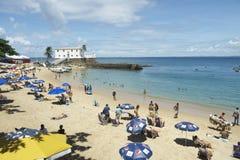 波尔图da巴拉岛海滩萨尔瓦多巴伊亚巴西 库存图片