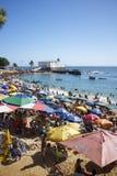 波尔图da巴拉岛海滩萨尔瓦多巴伊亚巴西 免版税图库摄影