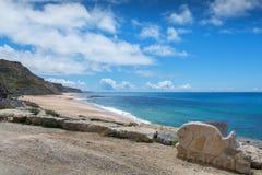 波尔图das Barcas海滩在Lourinha,葡萄牙 免版税库存图片