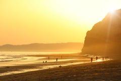 波尔图de Mos Beach,拉各斯,葡萄牙 库存照片