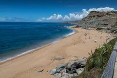 波尔图Dinheiro海滩在Lourinha,葡萄牙 库存图片