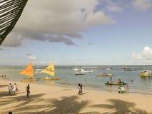 波尔图Galinhas海滩 库存照片