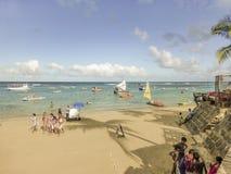 波尔图Galinhas海滩 库存图片