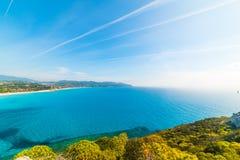 波尔图Giunco海岸线在一个晴天 免版税库存图片